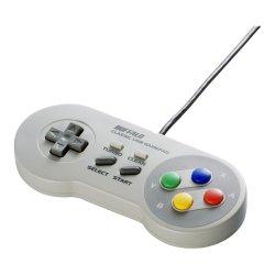 USBゲームパッド スーパーファミコン風